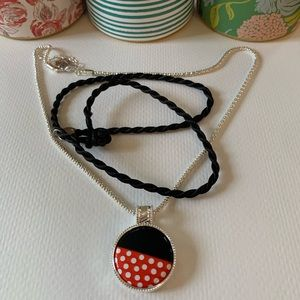 Magnabilities Minnie Mouse Pendant with Cord/Chain
